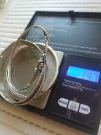 925 silver hallmarked bangles