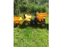 JCB Childs Ride on Tractor/Digger and Trailer