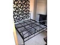 Bed frame super king size metal