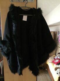Ladies Bat Wing Style Poncho Size 12