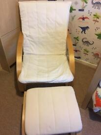 Nursing chair and stool