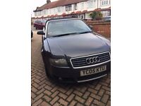 Barging Audi A4 convertible 1.8 05 reg, engine in mint condition, new set of tyres, leather interior