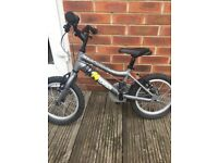 Child's bike aluminium frame approx 10-12inches would suit boy aged 3-5 years. Good condition
