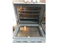 Range cooker slash back and extracter gas/elec double oven.