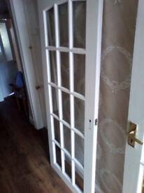 Interior door 15 glass panes 76cm x 189cm No damage No handle No hinge