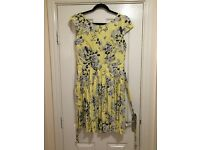 Dorothy Perkins Yellow Floral Dress - Size 16