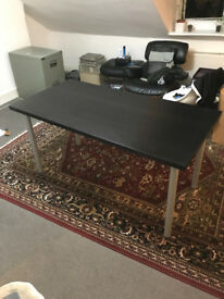 Ikea Table/Desk - black top