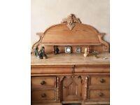 Vintage ornate pine sideboard