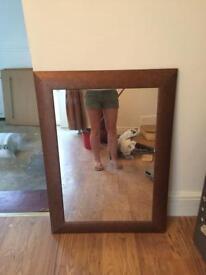 Bronze brown marbled effect mirror