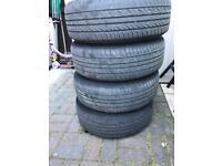 Tyres and steel wheels x 4 FREEEEEE