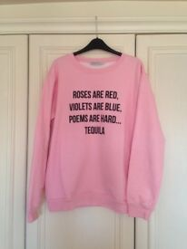 Lovely light pink jumper from Adolescent - size L