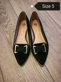 River Island flat shoes size 5