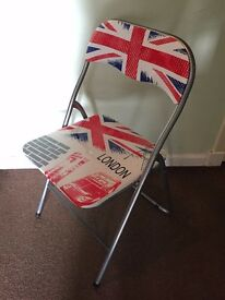 London Print Desk Chair