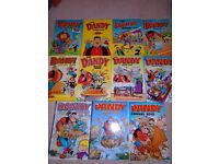 11 Dandy Books Vintage childrens comics Annuals Job Lot 1986-2010 Desperate Dan