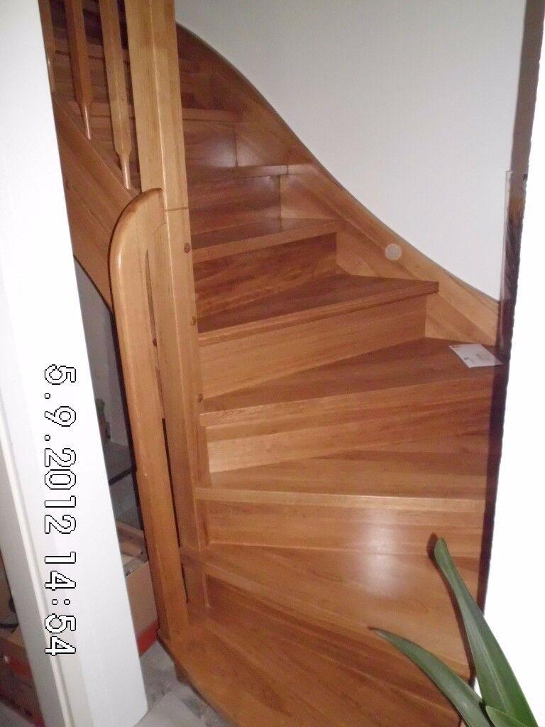 bespoke staircase, open wooden staircase, stair parts, handmade, Edinburgh area
