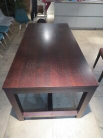 Habitat Walnut dark timber Dining Table nd Chairs