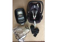 Maxi cosi pebble and isofix base