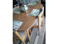 Vintage solid wood dinette table and chairs