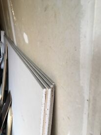 Plasterboard sheets x4