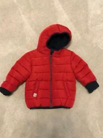 Next red boys winter jacket