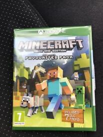 Minecraft xbox one edition includes favourites pack 7 dlc brand new sealed