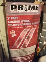 new unused still in box  Arched steel folding loading ramp