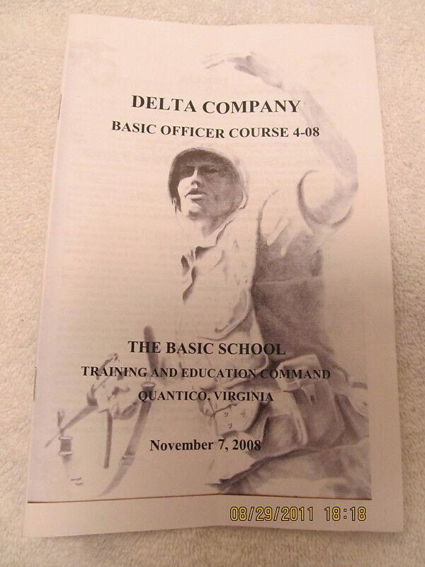 2008 Program Delta Company Officer Course Quantico, VA