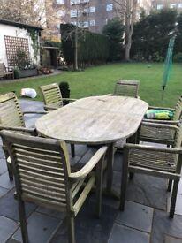 Outdoor teak furniture set ( humber imports supplier, monte carlo set )
