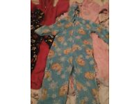 Girls winter onesies ranging from 2-3 years up to 4-5 years