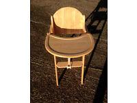 Wooden Folding Highchair Small