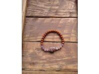 Elasticated Bracelet / Optimism Bracelet / Lepidolite Bracelet / Gemstone Bracelet / Boho Bracelet