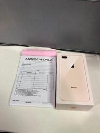 IPhone 8 Plus 256GB Gold, 12 Months Apple warranty On EE Orange Virgin Networks