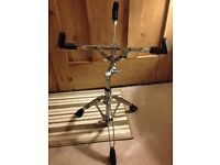 Mapex chrome snare drum stand.
