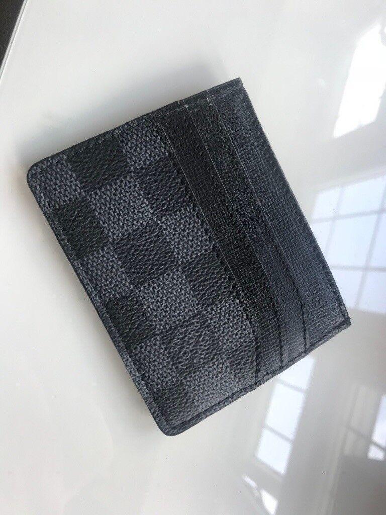 c8fc0deb3c63 Louis Vuitton Card Holder Damier Graphite