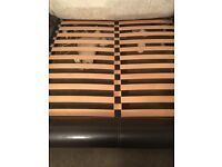 Kingsize Bed Frame (chocolate brown leather)