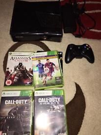 Xbox 360 S 250gb console and games