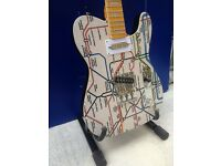 CUSTOM TUBE MAP DESIGN JENSON OF LONDON HAND MADE HIGH END TELE STYLE GUITAR HAND WOUND PICKUPS