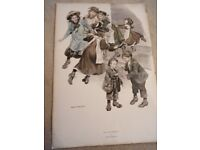 Vintage Print by Ronald Embleton. Bargain