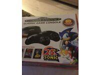Sega mega drive with 80 built in games