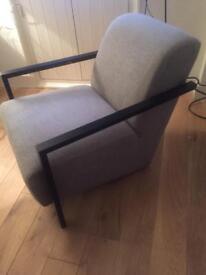 Grey Cushioned Armchair