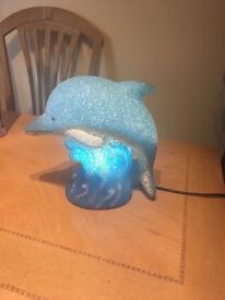 Large Dolphin Lamp