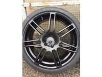 """Audi RS6 Double Arm 20"""" Alloy wheels and tyres"""