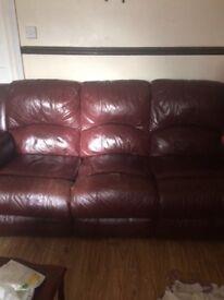 Sofa x2 recliners