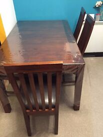 Kerela OAK Wood Dining Table and 4 chair