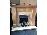 Good condition electric fire with surround