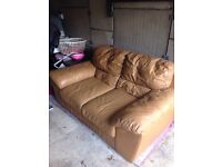 FREE!!!! Leather sofa and chair