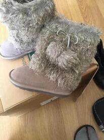 New Next Girls Winter Boots