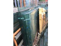 15mm and 10mm toughened glass , different sizes.