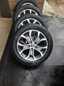 BRAND NEW TAKE OFF  CHEVY SONIC  FACTORY OEM 16 INCH WHEELS WITH HANKOOK  HIGH PERFORMANCE ALL SEASON 205 / 55 / 16 TIRE