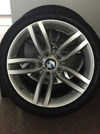 18 BMW m sport wheels and tyres all brand new no offers